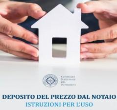 DEPOSITO DEL PREZZO DAL NOTAIO: ISTRUZIONI PER L'USO